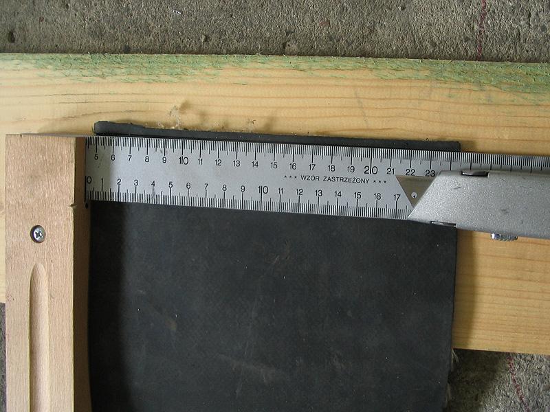 złącze do taśm gumowych MLT MS 35 - przed spięciem (instalacja z pomiarem)