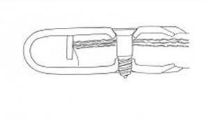 spinka do taśm gumowych MS 25 - mocowanie (rysunek)