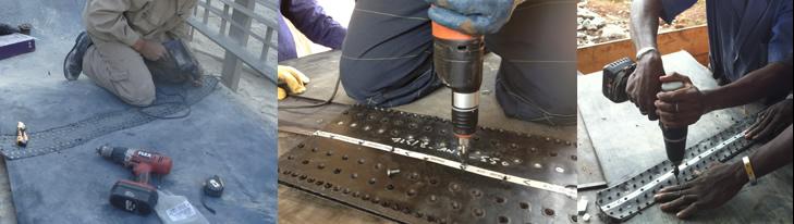 połączenie super screw - przebieg instalacji