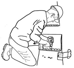Spinka, złącze do naprawy mechanicznej pasów gumowych - sposób montażu