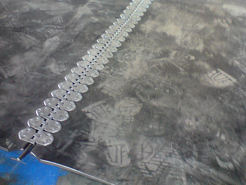 spinka, złącze taśmowe MLT MS 55 (praktyczne zastosowanie - połączony pas gumowy)