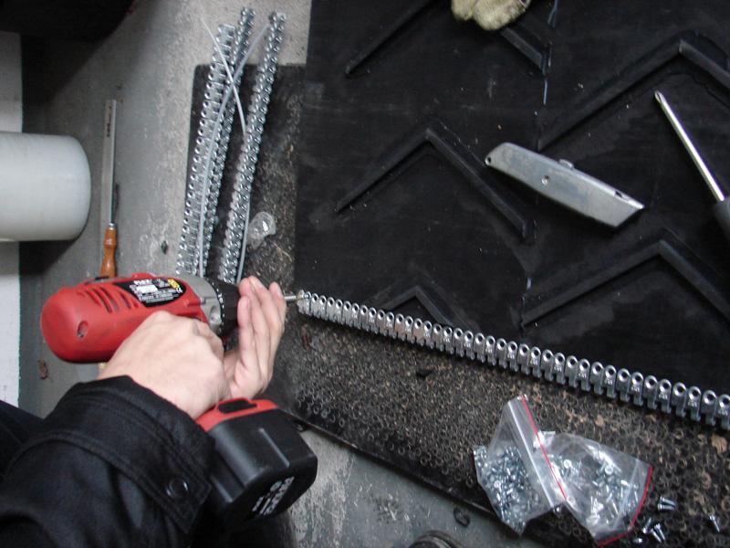 spinka do taśm gumowych MLT MS 25 - instalacja 2