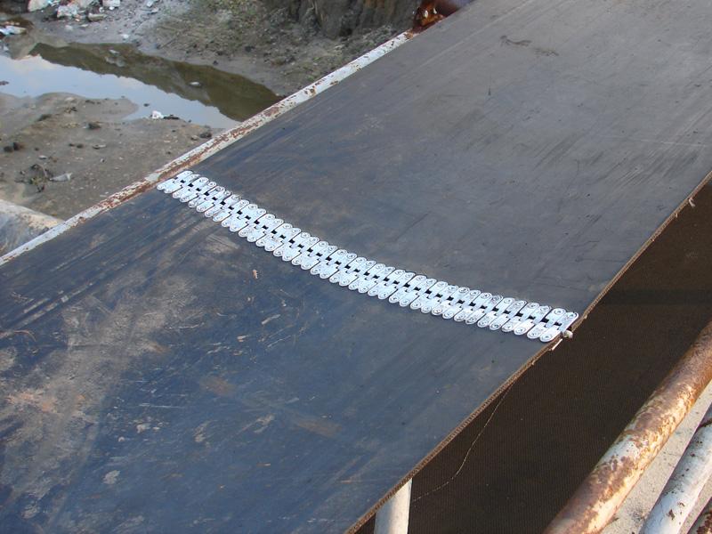 spinka do taśm gumowych MLT MS 25 - zastosowanie w praktyce 10 - naprawa pasa transportowego gumowego