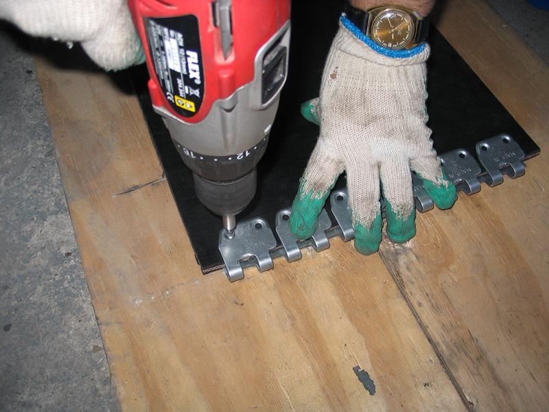 łączenie taśm - spinka, złącze MS 45 do naprawy i regeneracji pasów gumowych (instalacja 12)