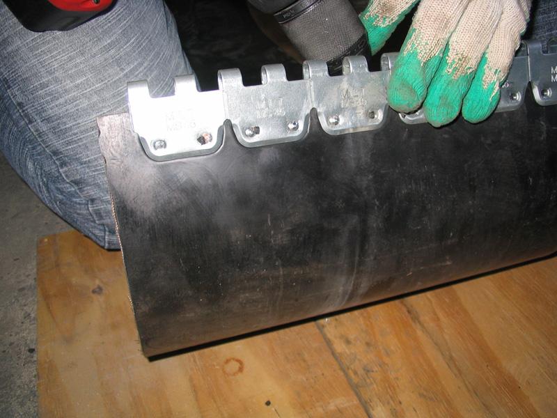 łączenie taśm - spinka, złącze MS 45 mechaniczna naprawa i regeneracja pasów gumowych (instalacja 9)