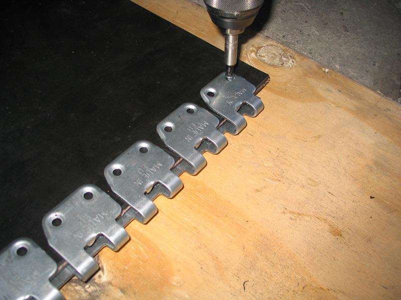łączenie taśm transportowych - spinka, złącze MS 45 do mechanicznego łączenia pasów(instalacja 4)