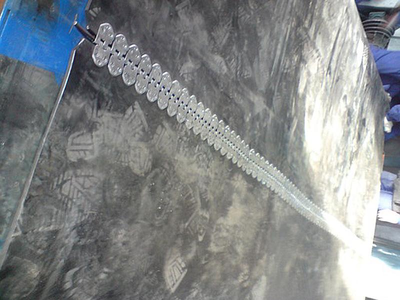 spinka, złącze taśmowe MLT MS 55 (praktyczne zastosowanie na pasie gumowym o szerokości 3200mm)