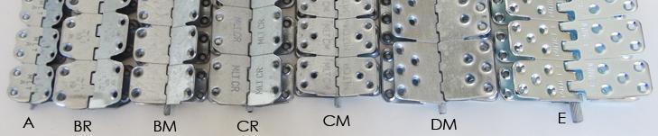 połączenia nitowane agrafes a rivet bandes lourdes