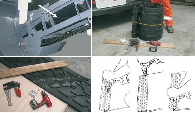 montaz połączenia super screw we frezarce do asfaltu