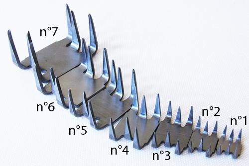 zszywki naprawcze - rozmiary - naprawa rozciętych i rozdartych pasów gumowych