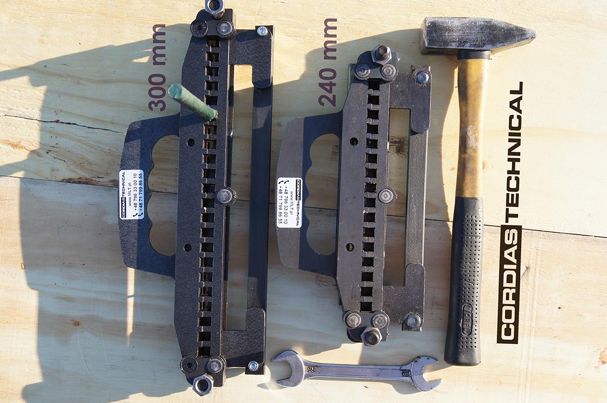 TITAN 05 - zestaw narzędzi do montaż spinki, złącza produkcji Cordias Technical