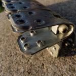 Spinka, złącze mechaniczne MLT MS65 do regeneracji grubych pasów gumowych - w powiększeniu od wewnątrz