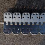 Spinka, złącze mechaniczne MLT MS65 do naprawy grubych pasów gumowych - widok z góry złącza