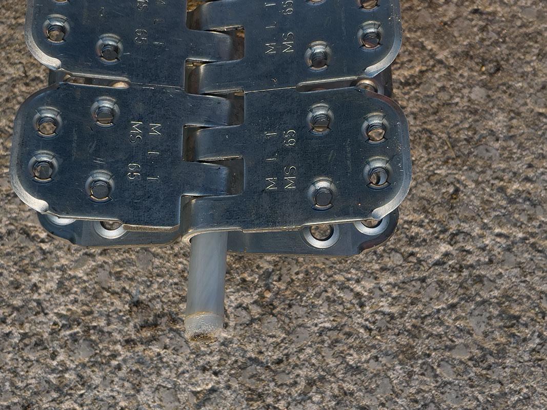 Spinka, złącze mechaniczne MLT MS65 do naprawy grubych pasów gumowych - wraz z drutem montażowym